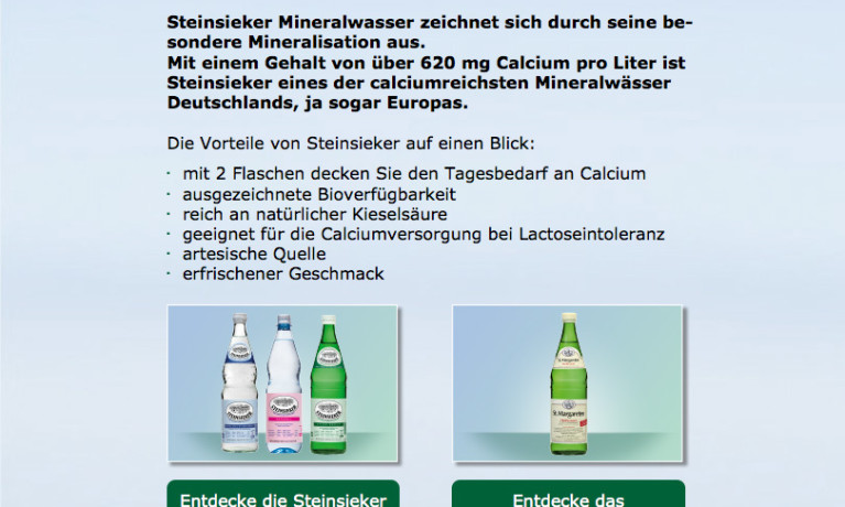 Steinsieker – Produkt Tab